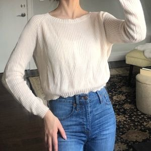 Cream knitted crop top mossimo sweater size XS